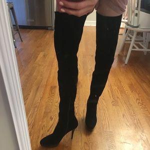 Stuart weitzman 'hiho' suede over the knee boots